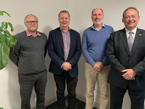 The UAP Group has acquired Concept Group Guernsey. Pictured left to left are Kevin Le Moigne, Rob Shipman, Roger Berry and Lyndon Trott. (30055260)