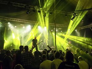 Picture supplied by Andrew Le Poidevin: 27-06-2014.Chaos 10 Bike & Music Festival, Pleinmont..Therapy? headlined on the main stage on Friday night..Arriving straight from playing at Hellfest, Therapy? were popular headliners on Friday night.. (29110838)