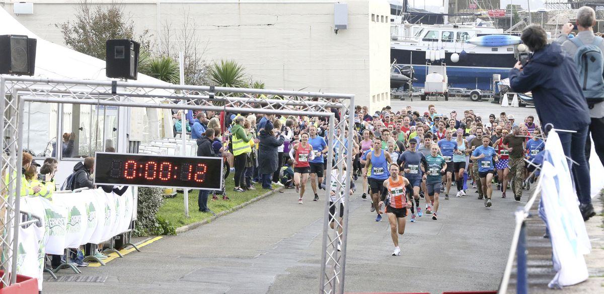 Pic by Adrian Miller 25-10-20 Guernsey Marathon 2020 (28836892)