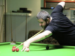 Martyn Desperques showed no signs of rustiness as he took all three frames against Scott Bradford. (Picture by Adrian Miller, 29384501)