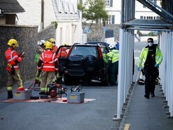 Care workers caught up in Grange crash
