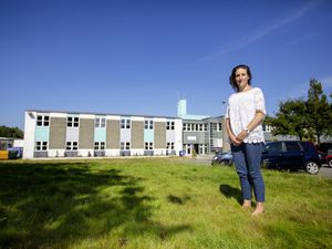 Deputy Lindsay de Sausmarez on the site of Education, Sport & Culture's proposed sixth form centre at Les Ozouets.  (Picture by Peter Frankland, 29958960)