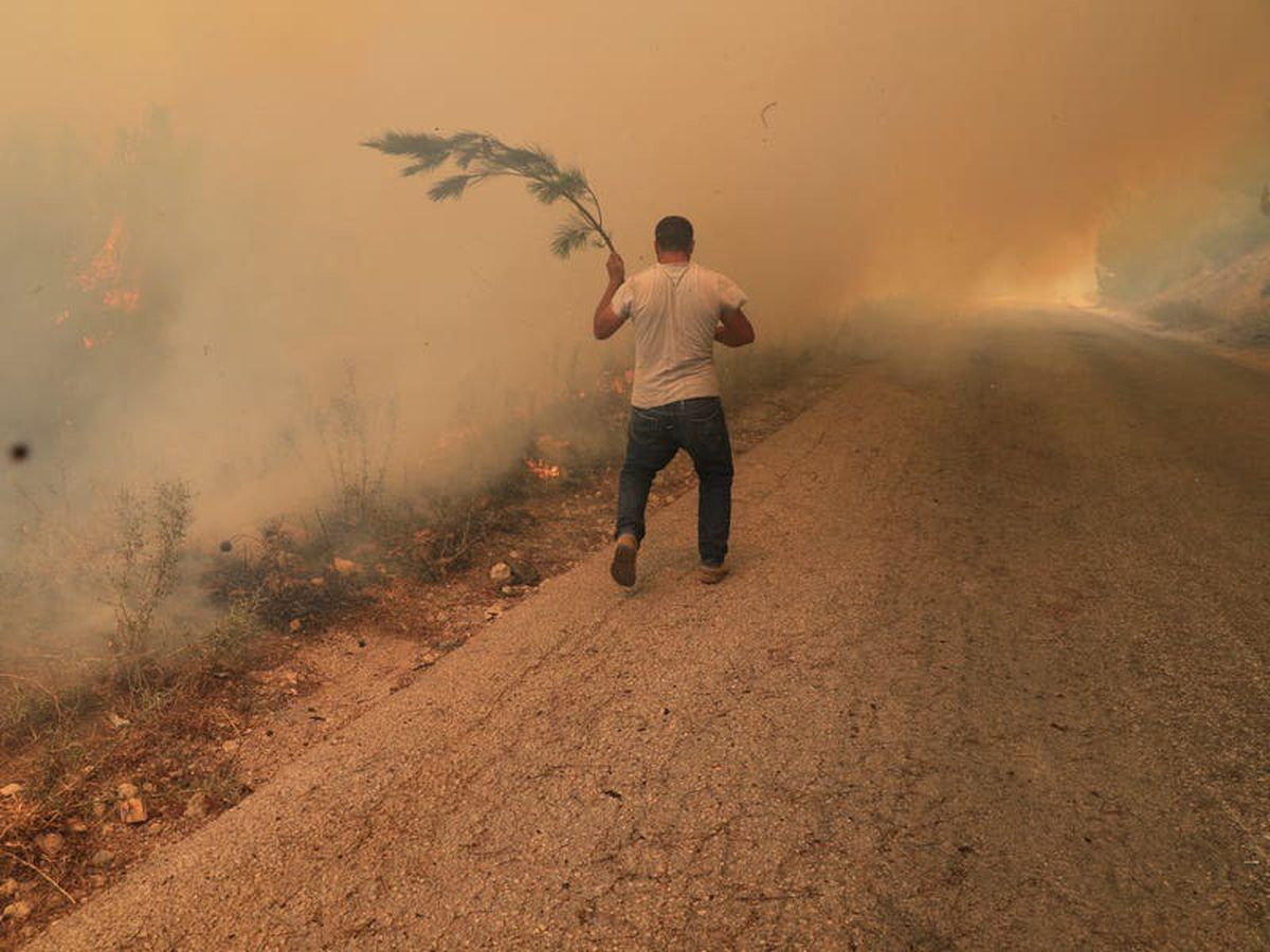 Wildfire rages for second day in Lebanon and spreads to Syria