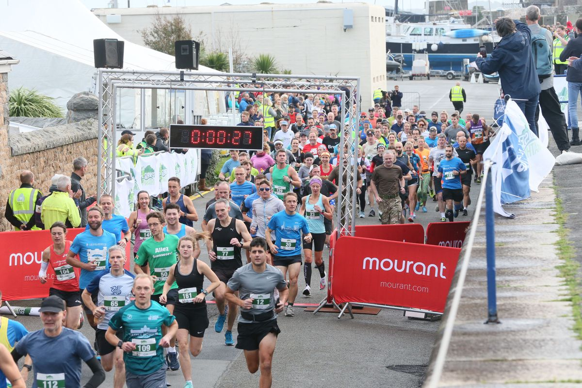 The 2020 Guernsey Marathon was run in October and, due to the current lockdown, this year's edition will be pushed back from next month to October again. (Picture by Adrian Miller, 29250175)