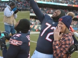 This Chicago Bears player proposed after his side clinched the NFC North title