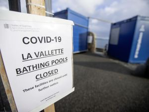 Picture by Sophie Rabey.  24-01-21.  The Valette Bathing Pools have been closed for use during the second Coronavirus Lockdown.  Generic Bathing Pools pics. (29156407)