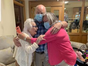 Woman, 101, reunited with son for surprise birthday party