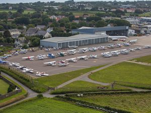 Jon Le Ray took this aerial pictures of the 2017 rally. The Guernsey Aero Club hopes to bring the event back for the first time since 2019 next year.