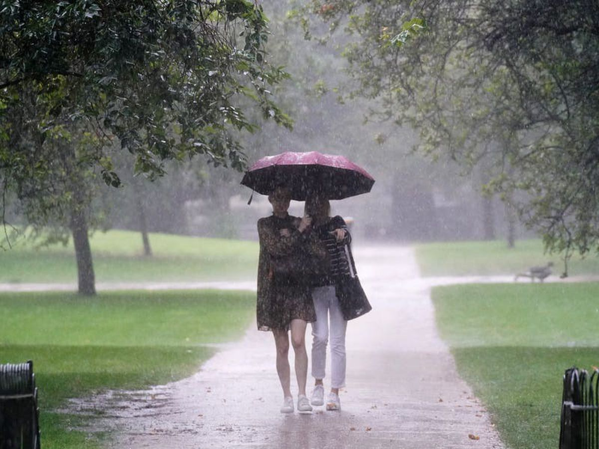 Thunderstorms bring risk of flooding as unsettled weather continues