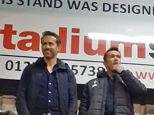Ryan Reynolds reacts to watching his first Wrexham game live