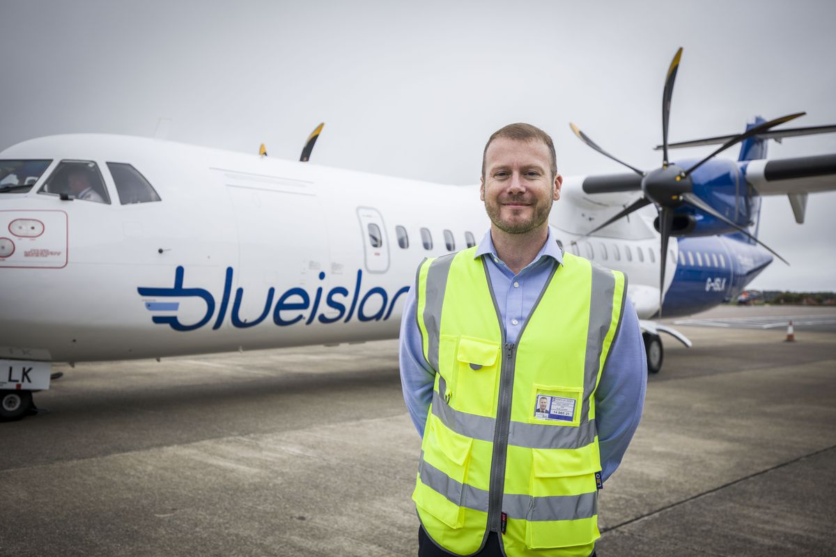 Still smiling in the face of adversity Rob Veron, Blue Islands' CEO is confident of a bright future after the airline had to deal with the collapse of franchise partner Flybe and the coronavirus pandemic in 2020. (Picture by Sophie Rabey, 28765100)