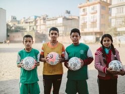 This company gives a football away to disadvantaged kids every time you buy one