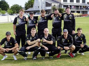 Job done: The first T10 Triangular Tournament winners Griffins. 