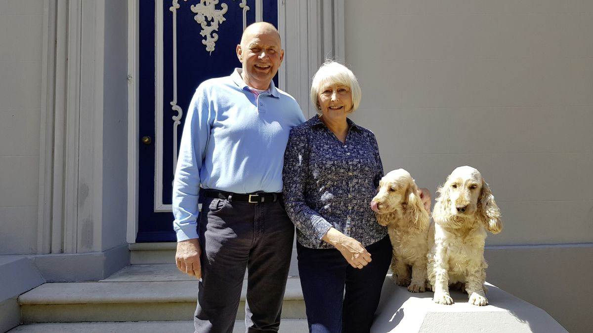 Graham and Linda Dorey with their spaniels Daisy and Penny. The couple are selling Brooklands Farm, which has been owned by the Dorey family for more than a century. (29533016)