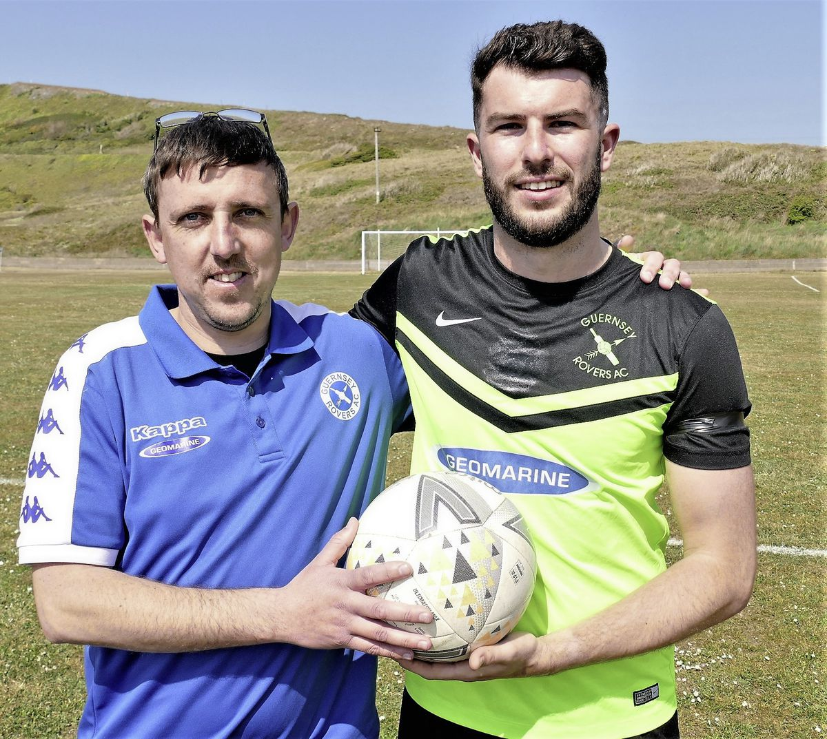 Grateful manager: Kevin Gillease with match-winner Blair Howitt at Mount Hale. (Picture by David Nash, 29502297)