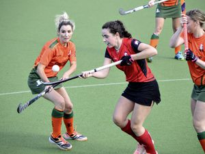 HOCKEY - Women's League, Amazons v. Indies Ladies at Footes Lane, 10-10-20. Laura Cashin.Picture by Gareth Le Prevost. (28787666)