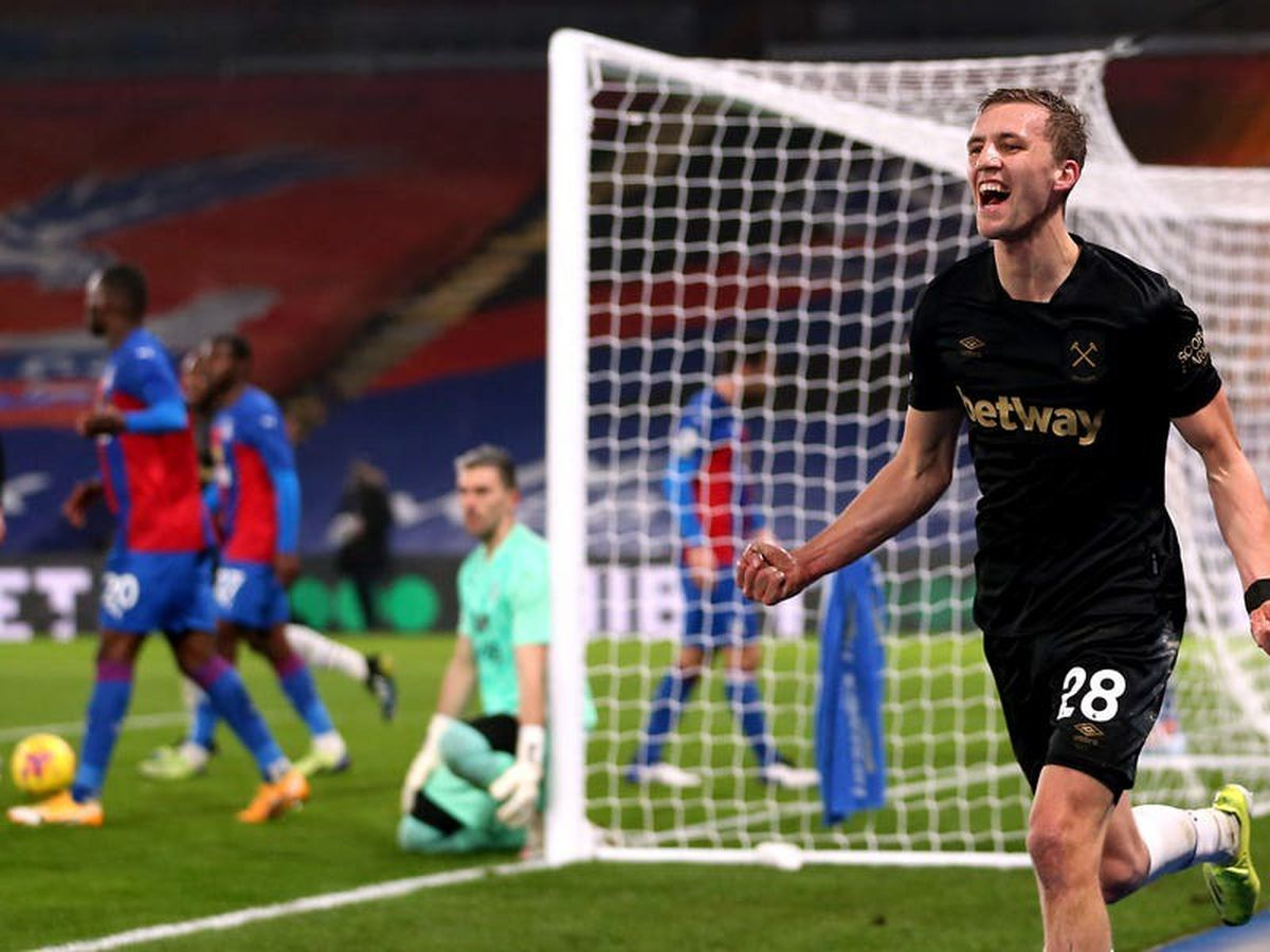 Tomas Soucek leads comeback at Crystal Palace as West Ham reach top four