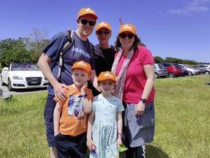 The Jefferies family set out from Chouet and stopped at Bordeaux to collect their caps. Twins Albert and Sally, 6, with Mark, Trevor and Lindsay. (Pictures by Mark Ogier, 29625202 )