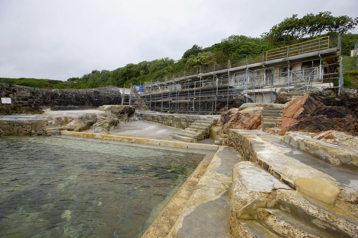 DLM Architects director Dave de la Mare said all the groundwork at the bathing pools site has been done, including removing sections of the building. (Picture by Peter Frankland, 29678908)