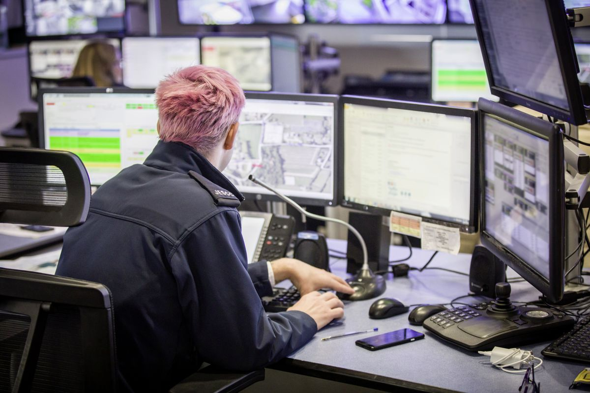 Picture by Sophie Rabey.  13-10-20..A day in the life of JESCC at the Police Station.  Joint Emergency Services Control Centre..Kyle Gallie. (28810316)