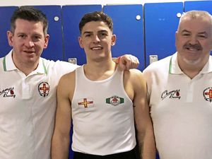 The Amalgamated Club's first-ever Commonwealth Games boxer Billy Le Poullain, pictured with coaches Ben Duff (left) and Simon Weaver (right), has found out his first-round opponent for tomorrow's opening day of competition at the Gold Coast 2018 Commonwealth Games. (21096441)