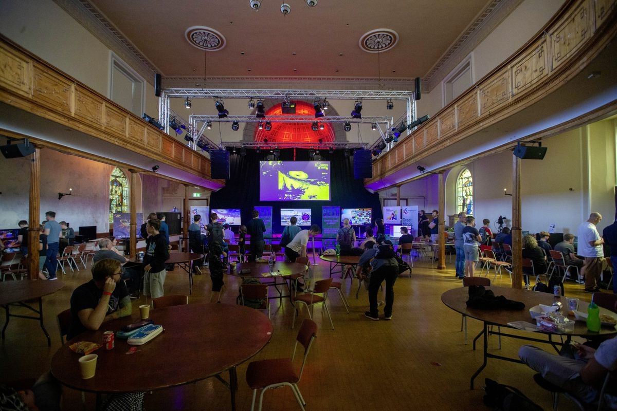 No stage, but giant screens instead as St James was turned into an arcade for Donkey Con.(30022869)