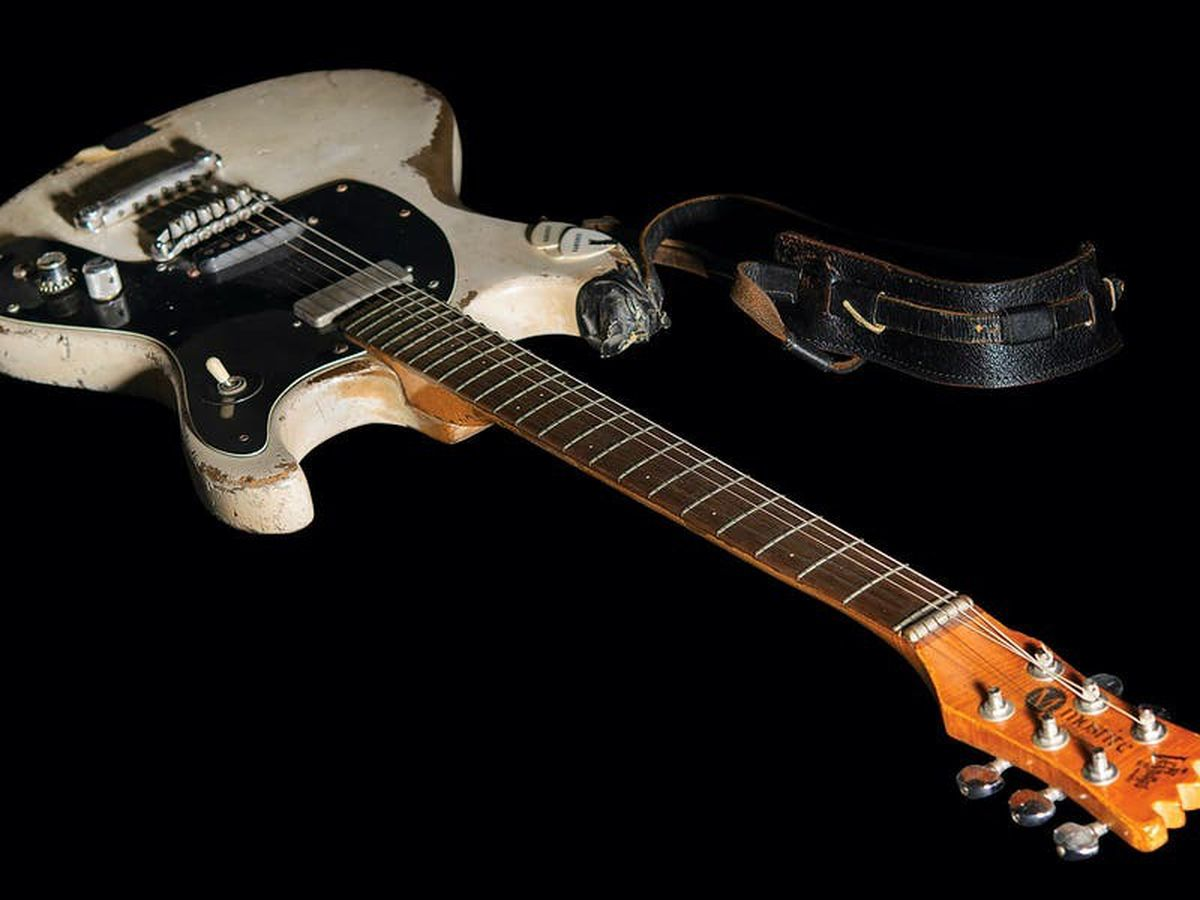 Johnny Ramone's guitar sells for more than £650,000 at auction