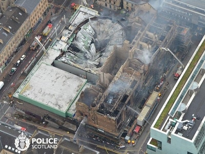 Mackintosh Building blaze largely contained, but extensive damage – fire service