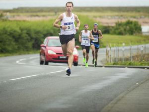 Picture by Sophie Rabey.  06-09-20.  Butterfield Guernsey Half Marathon.  The event is usually held on Father's Day, but was postponed because of the Covid-19 pandemic..This year marks its 20th anniversary.. (28659028)