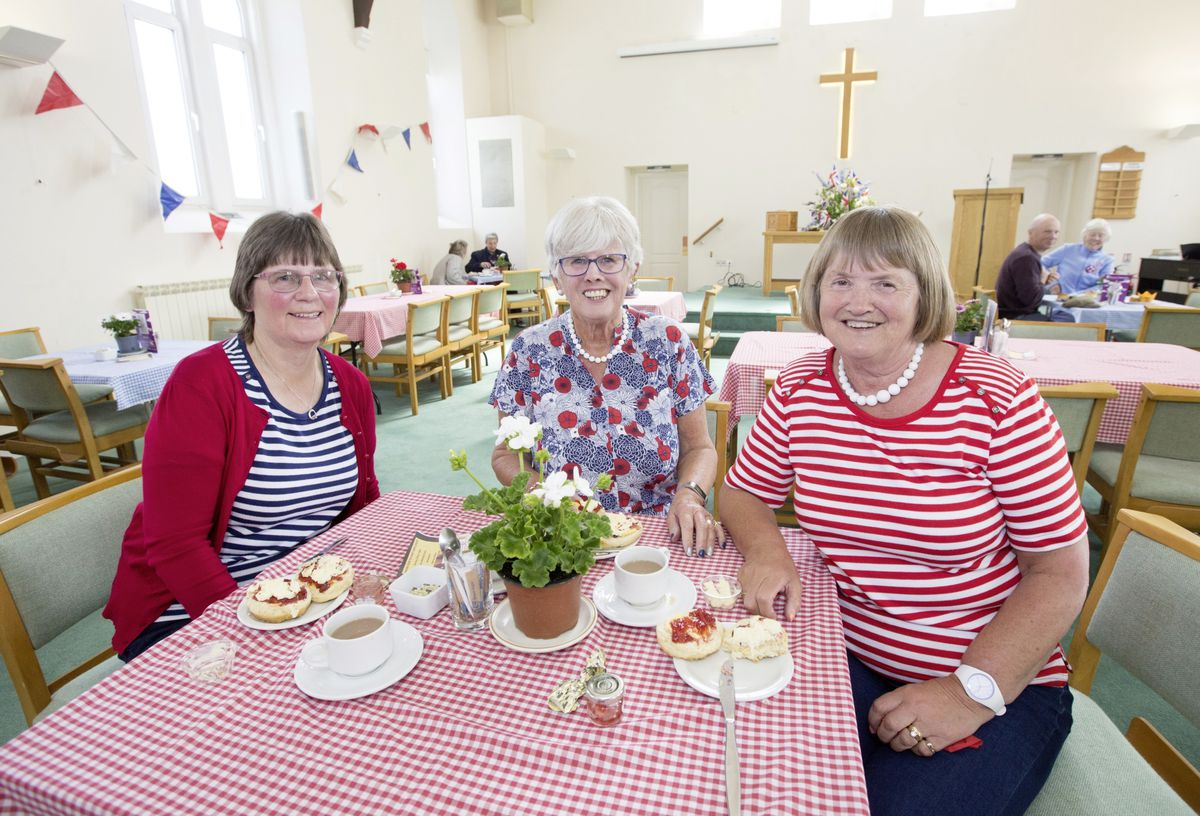 Left to right, Margaret Tostevin, Margaret Savident and Doreen Longnonnec get ready to tuck into their cream tea. (Pictures by Adrian Miller, 29527079)