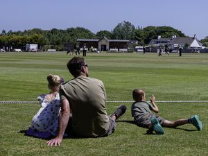 Just a perfect day to watch cricket: A family sit down at KGV to watch the first T20 game played as part of the island's Covid-19 Lockdown sporting exit plan.(Picture by www.guernseysportphotography.com, 28319942)