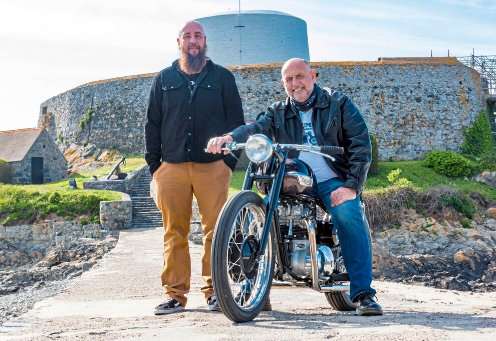Biker Ady Meets Up With Dads Long Lost Triumph Guernsey Press