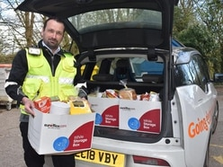 Traffic wardens deliver food boxes instead of parking fines during pandemic