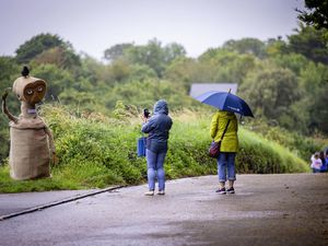 Picture By Sophie Rabey.  24-07-21.  Saturday at the Torteval Scarecrow Festival.  Heavy rain on the first day saw for some smaller crowds. (29797255)