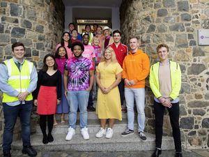 Staff at Grant Thornton wore their brightest clothes to the office yesterday to raise money for road safety charity Living Streets' High-Vis Day.   (Picture by Adrian Miller, 28832444)