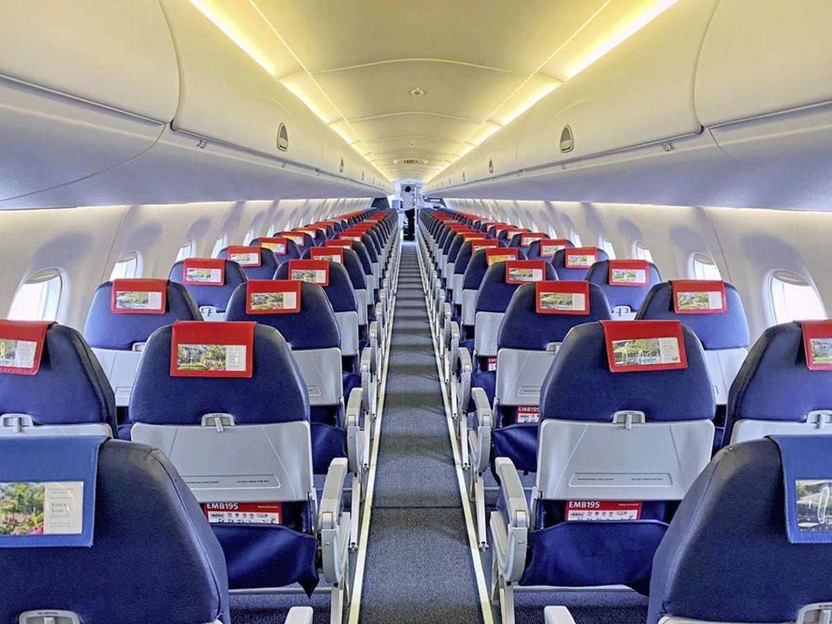 The empty Aurigny jet aircraft. (28866446)
