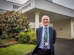 Guernsey medical director Dr Peter Rabey outside the Princess Elizabeth Hospital.  (Picture by Sophie Rabey, 29893603)