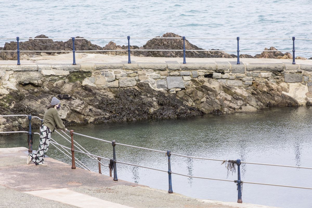 The Bathing Pools at La Vallette are open again, but with some restrictions in place to protect swimmers from Covid-19. (Picture by Adrian Miller, 29274566)