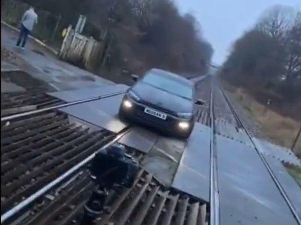 Car photoshoot on railway tracks shared on TikTok 'beggars belief'