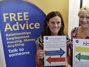 Citizens Advice CEO Kerry Ciotti, left, and deputy Ali Marquis with the