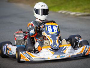 Picture by Sophie Rabey.  10-01-21.   2021 Kart Championship Round 1.  Rotax Max - Lewis Wild. (29244067)