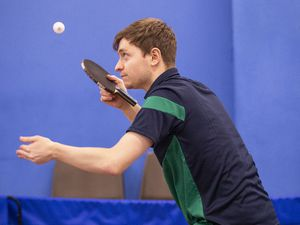 Picture by Sophie Rabey.  13-01-20.  Capelles Open Table Tennis action at GTTA Centre.  Josh Stacey.. (28390591)