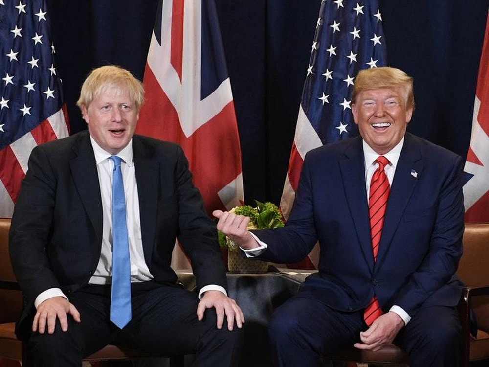 UK's Johnson, Trump look forward to ambitious trade agreement - Downing Street