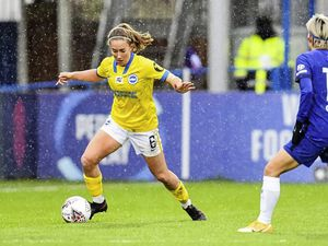 Maya Le Tissier in action for Brighton & Hove Albion on Sunday away to reigning FA Women's Super League champions Chelsea, who the Seagulls beat 2-1 to end their hosts' 33-match unbeaten home WSL run in the process. (Picture by Kyle Hemsley / BHAFC, 29223242)