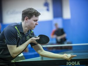 Picture By Peter Frankland. 15-01-19 Table Tennis at GTTC. Capelles Open. Lawrence Stacey.. (28898682)