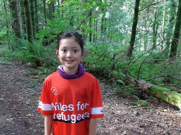 Girl, nine, vows to walk 22 miles to help refugees win right to live in Scotland