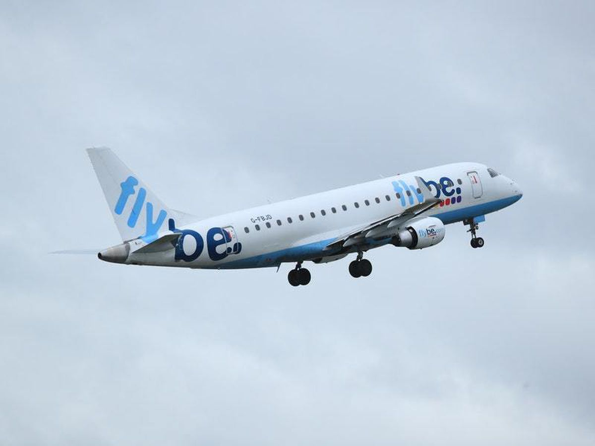 A Flybe plane takes off (29335525)