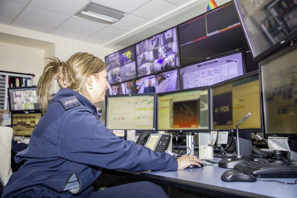 Picture by Sophie Rabey.  13-10-20..A day in the life of JESCC at the Police Station.  Joint Emergency Services Control Centre..Mia Musto. (28810341)