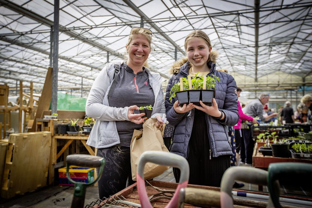 The seeds 12-year-old Annie Le Ray hoped to use in her growing patch did not come through properly so she was there with mum Marianne to get some replacements. (Pictures by Sophie Rabey, 29505235)