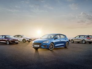The 2018 Ford Focus range, including the ST-Line and the estate version (on the right)